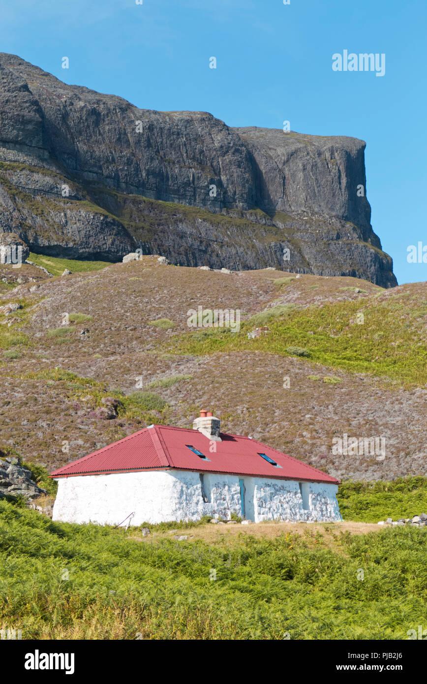 Traditional disused croft, Isle of Eigg - Stock Image
