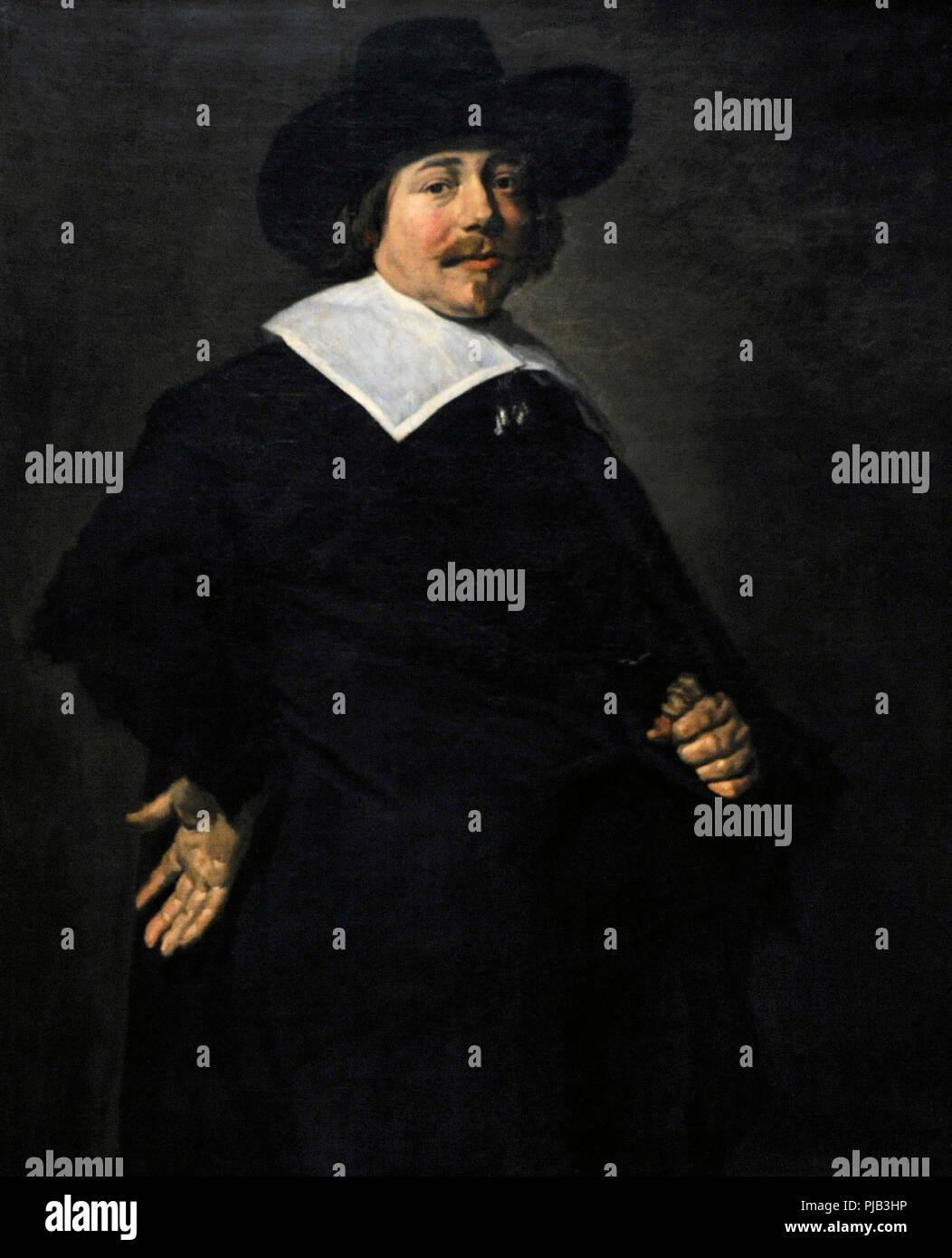 Frans Hals (1581/1585-1666). Dutch painter. Portrait of a man, Albert von Nierop?, ca.1640. Wallraf-Richartz Museum. Cologne. Germany. - Stock Image