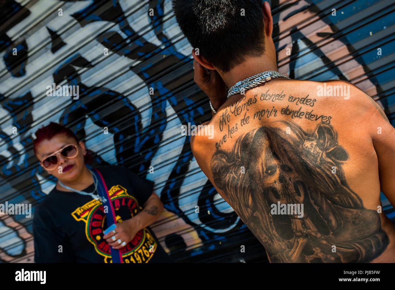 Religious Tattoo Stock Photos & Religious Tattoo Stock