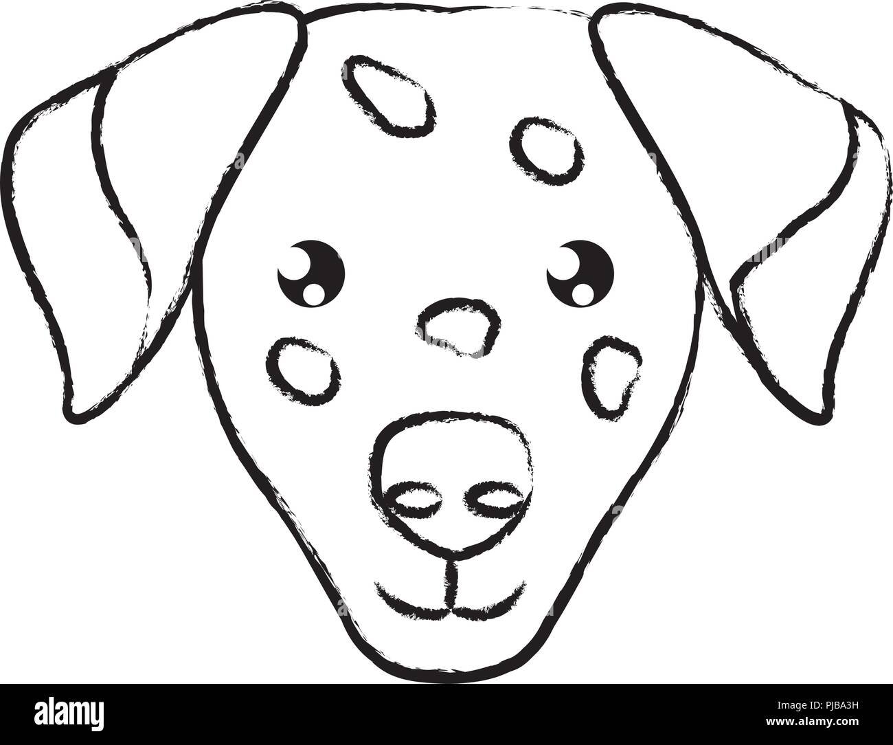 cute dalmatian dog icon over background, vector illustration - Stock Vector
