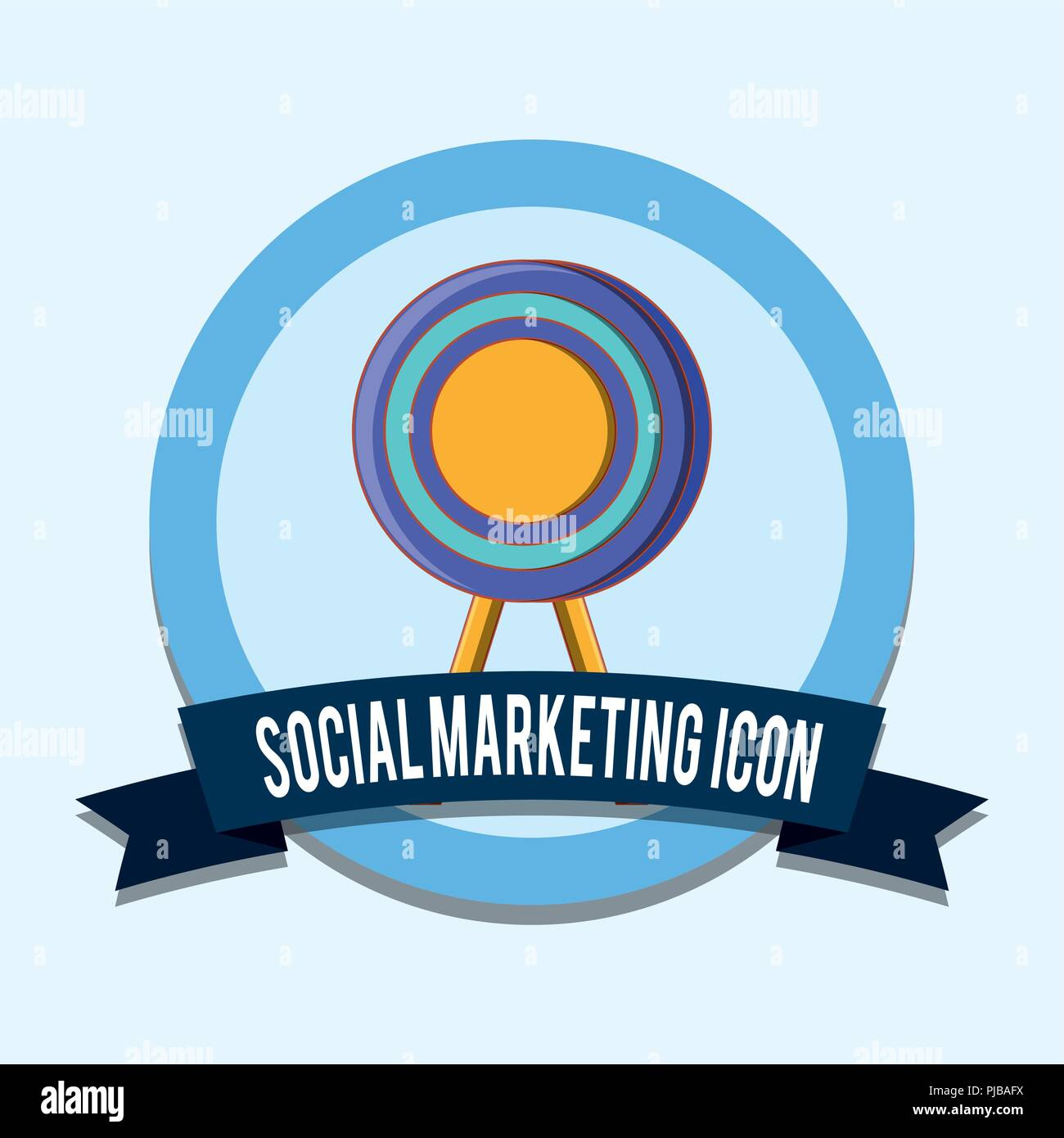 target social marketing icon emblem vector illustration Stock Vector