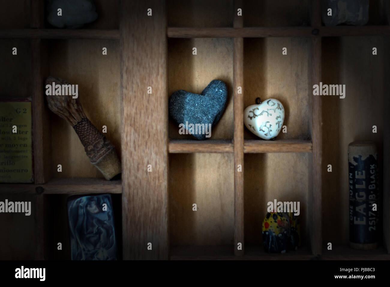 Small Knick Knacks On Wooden Shelves Stock Photo 217838659 Alamy