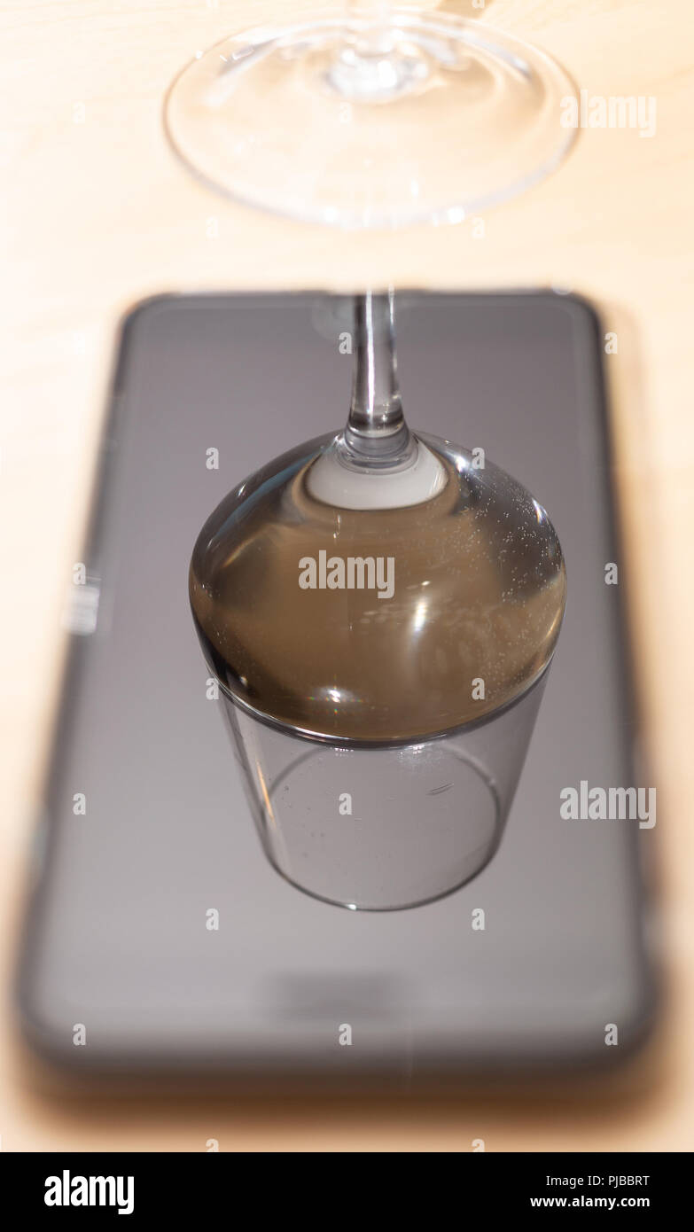 Photographing Upside Down Wine Glasses Through The Smart