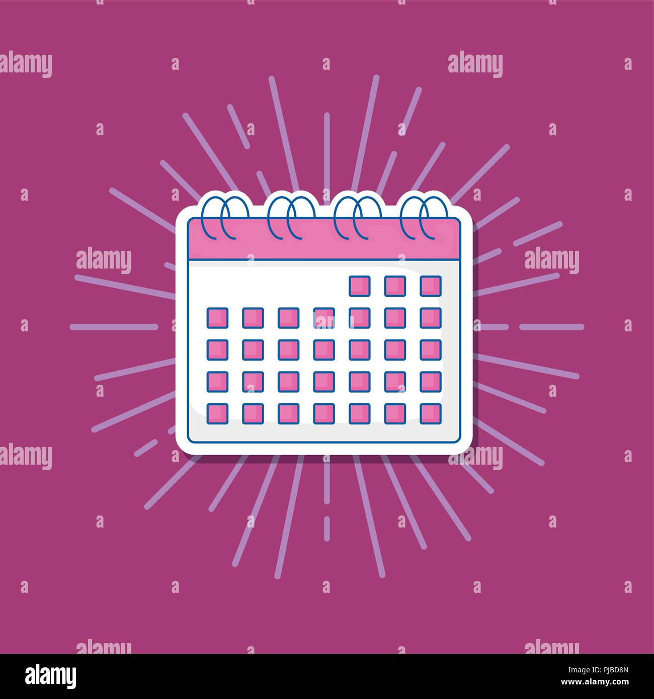 Wedding Celebration Card With Calendar Vector Illustration Design