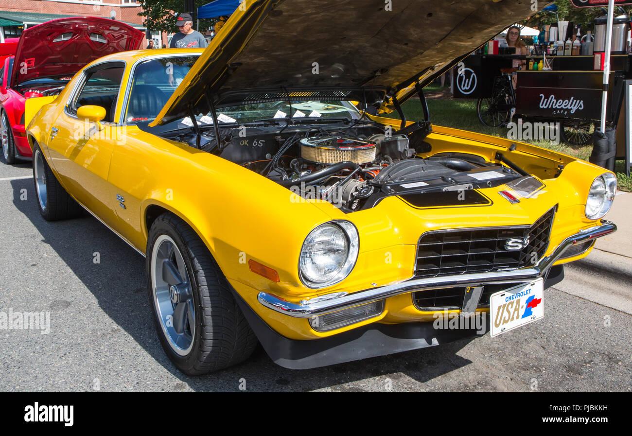 MATTHEWS, NC (USA) - September 3, 2018: A 1971 Chevy Camaro