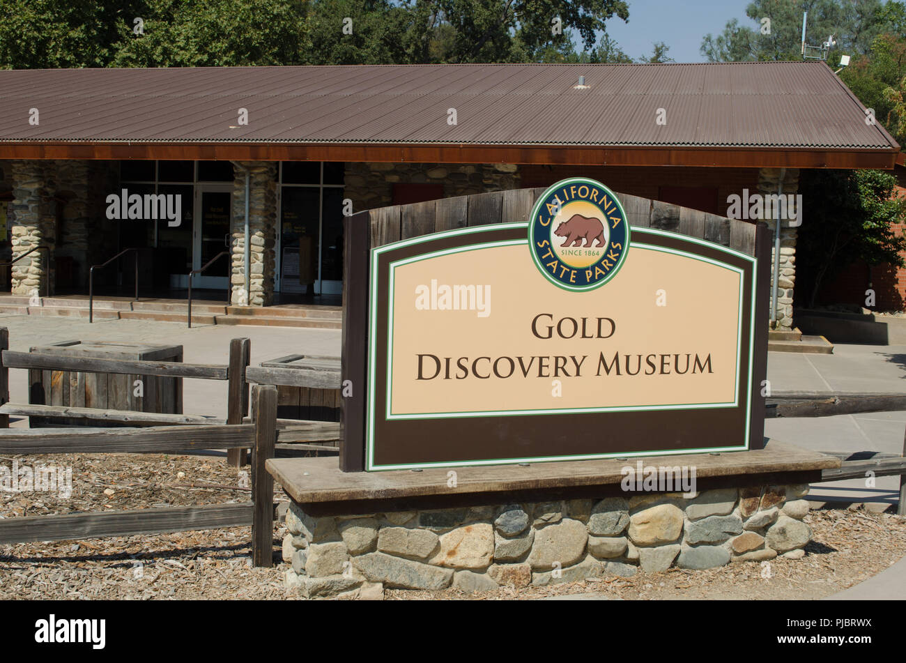 Coloma schoolhouse at the 1849 gold discovery musem, near Placerville, California. - Stock Image