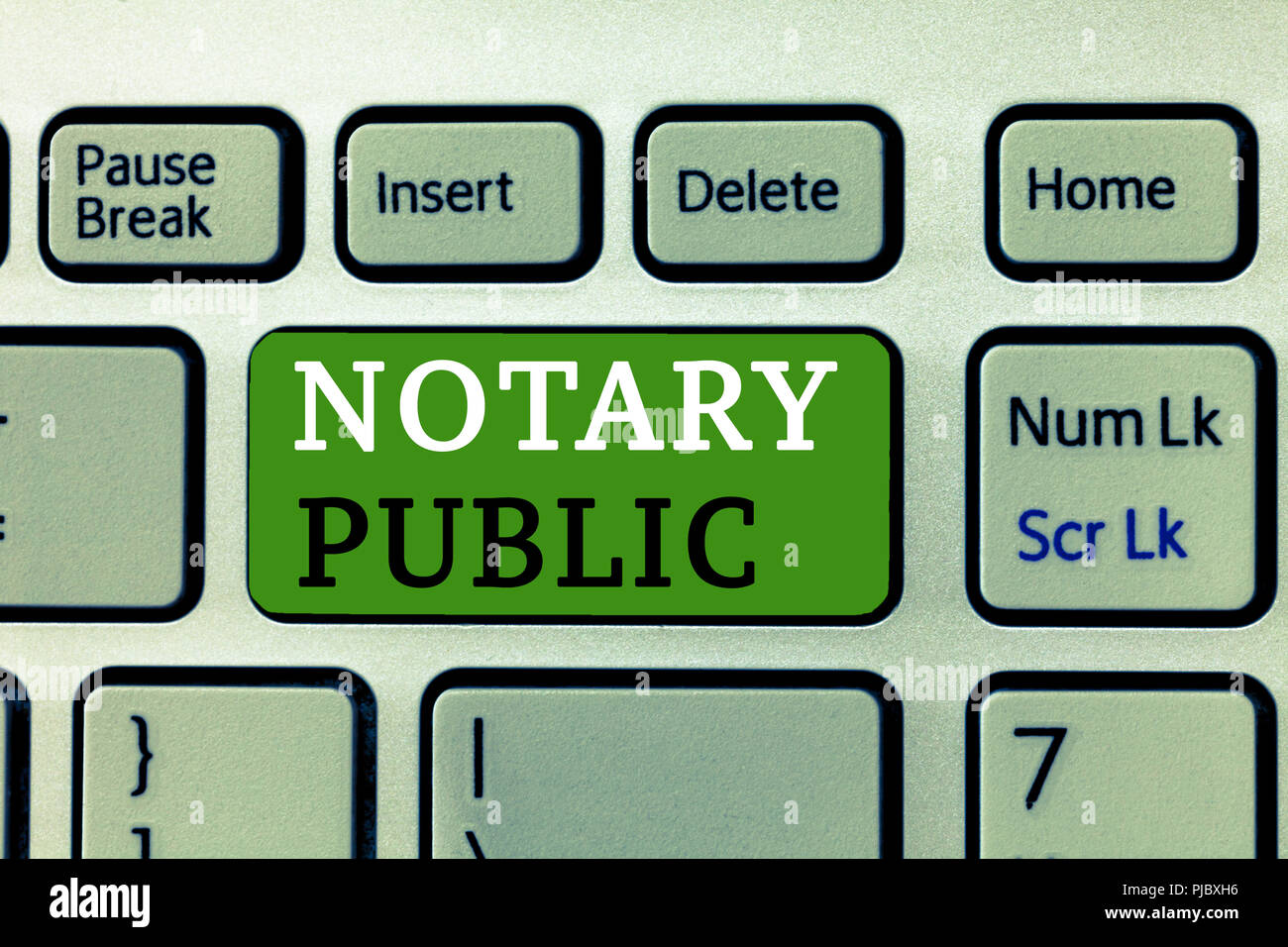 Word Writing Text Notary Public Business Concept For Legality