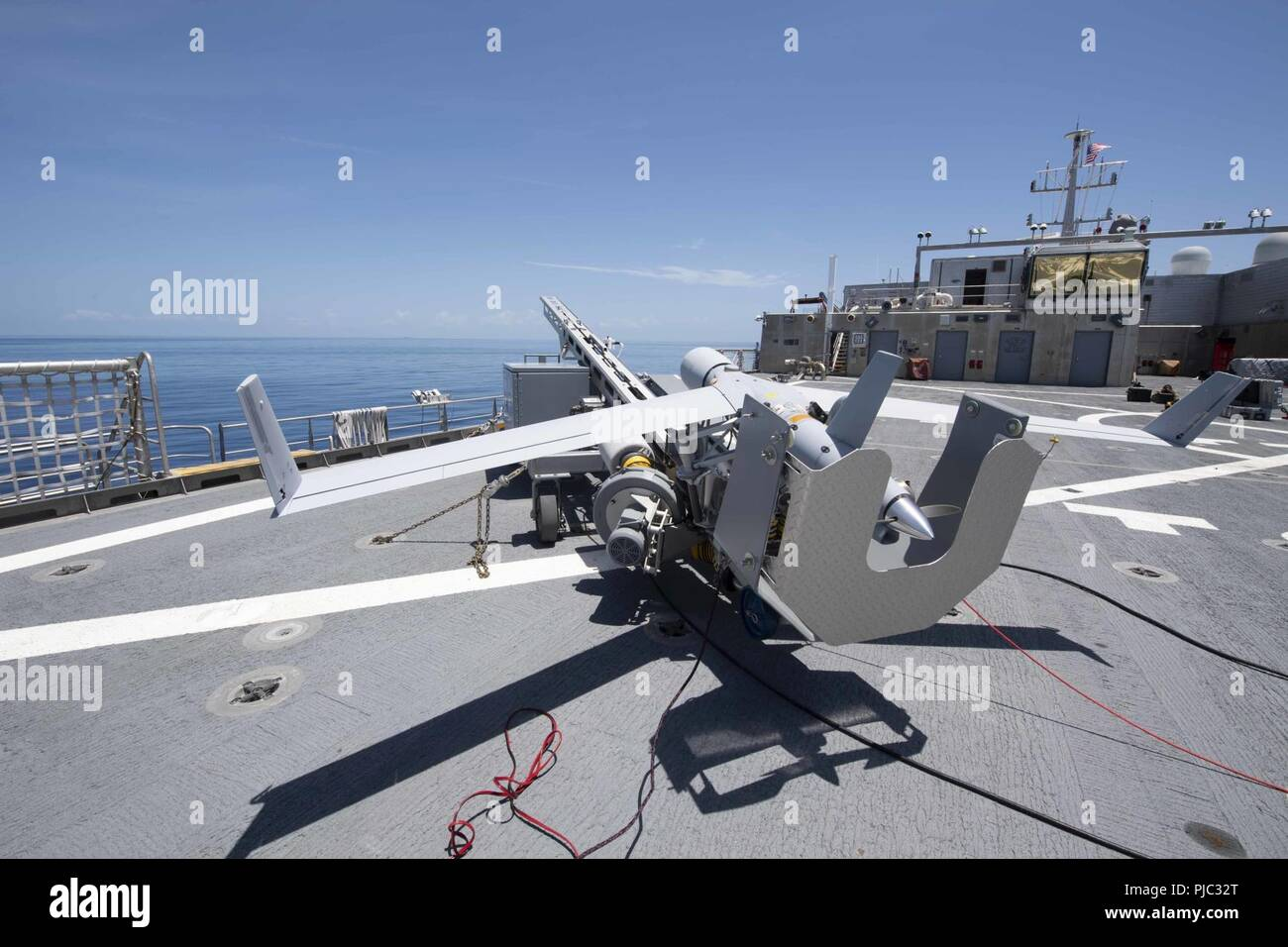 ATLANTIC OCEAN (July 19, 2018) The Scan Eagle unmanned