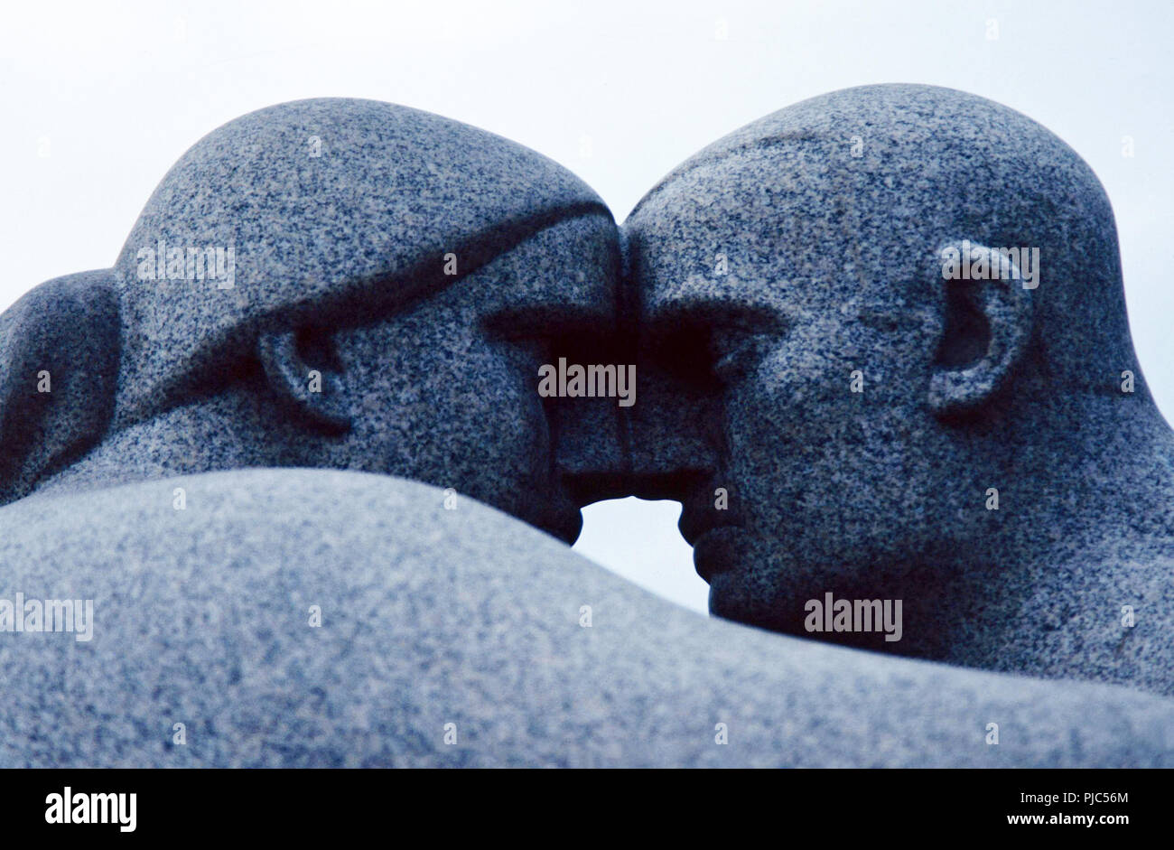 Man and woman quarreling,Vigeland Sculpture Park,Oslo,Norway - Stock Image