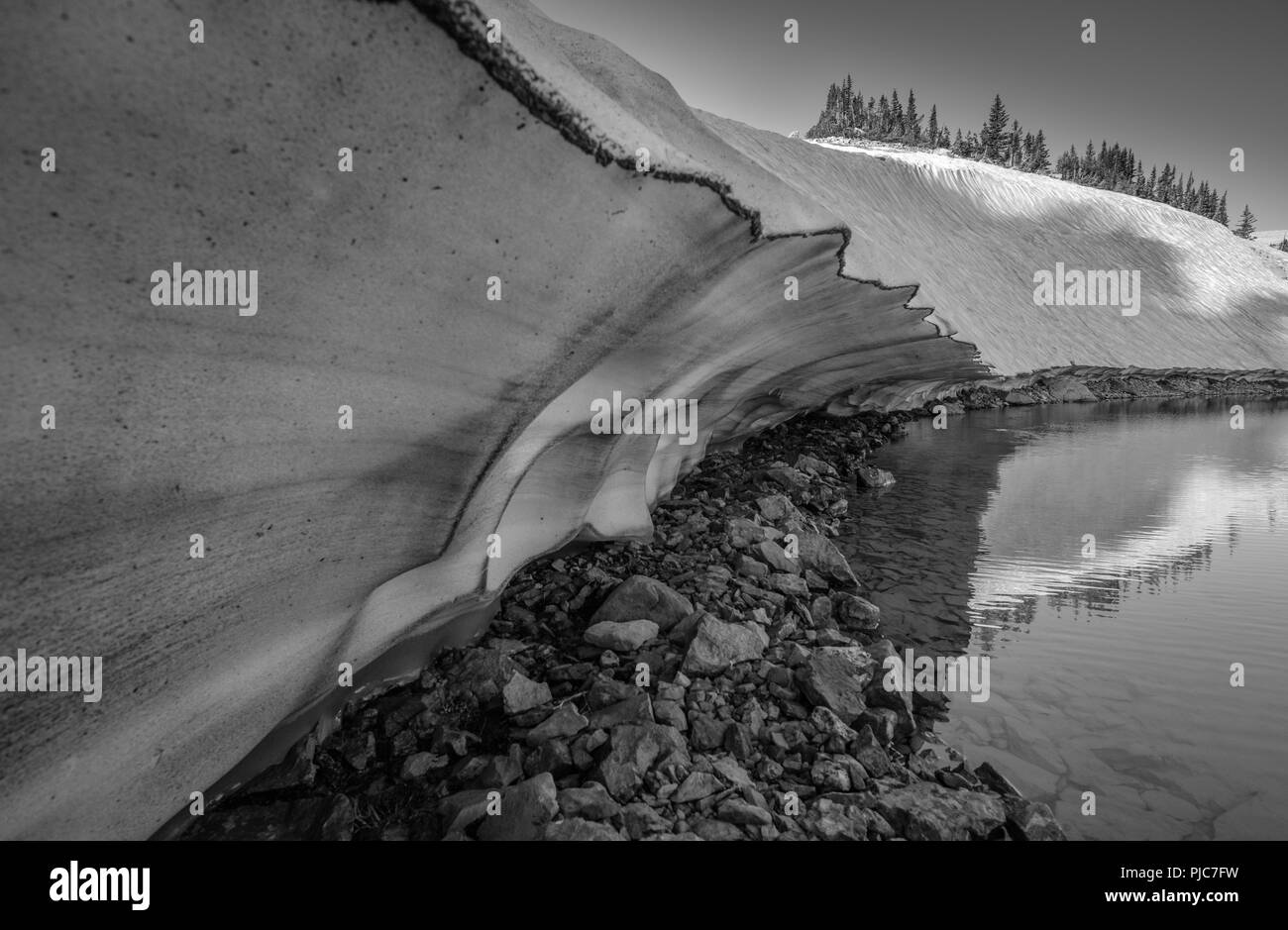 Brewster Lake, Gros Ventre Wilderness, Wyoming - Stock Image