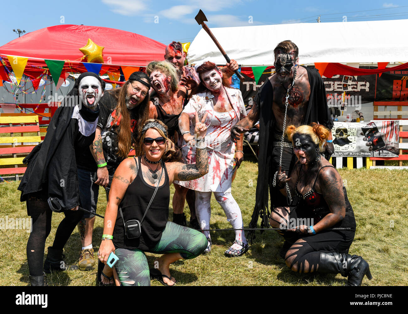 Mansfield, Ohio, July 15, 2018. Cosplay concert goers at the Inkarceration Fest 2018. Credit: Ken Howard/Alamy Stock Photo