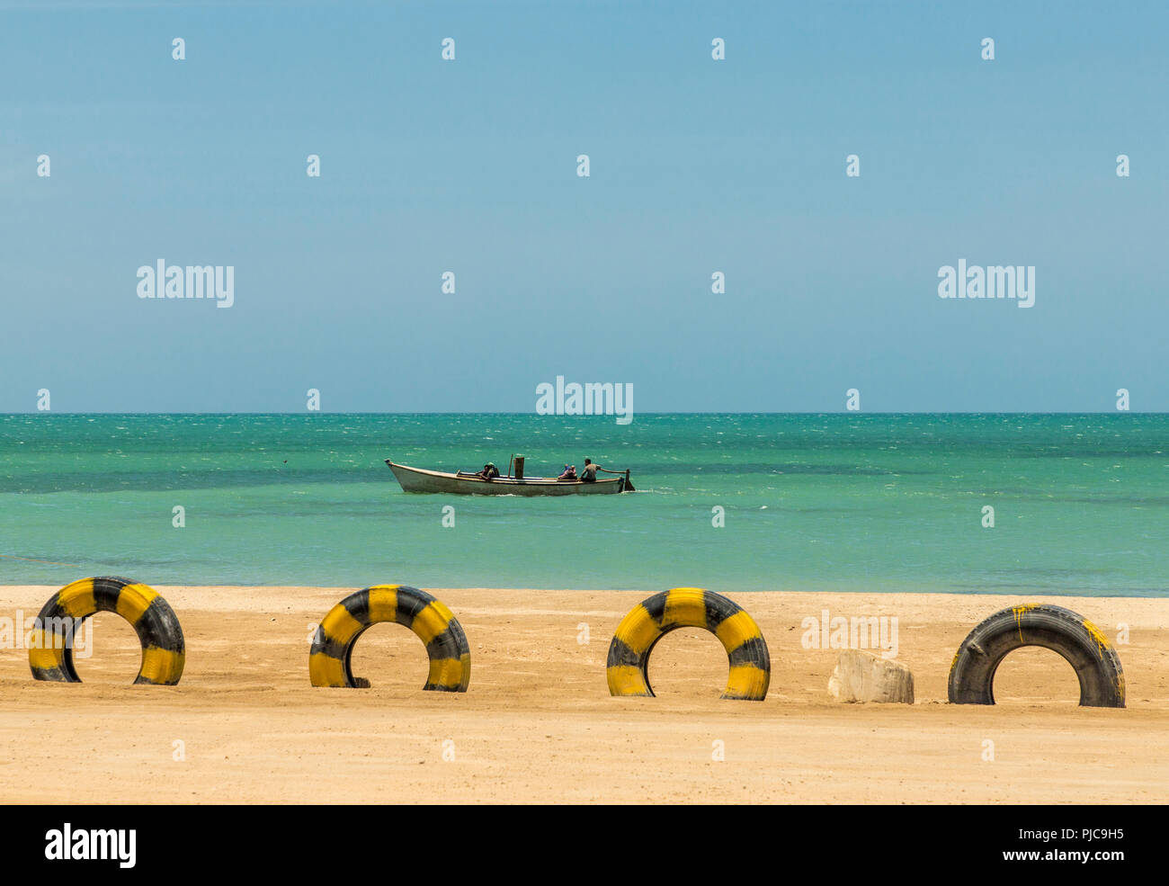 A view of Cabo de la Vela in Colombia - Stock Image
