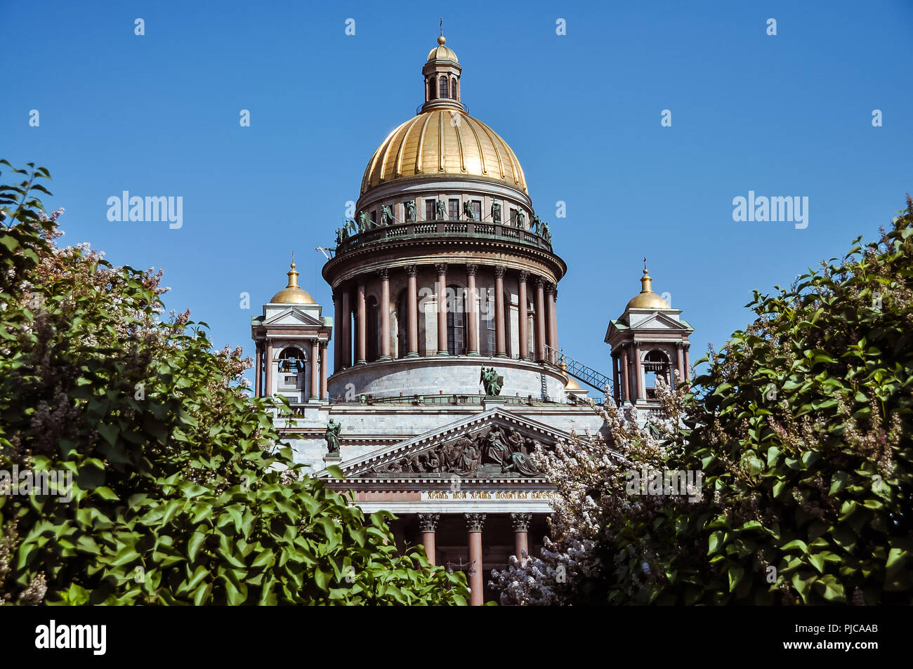Dome of the St. Isaac Cathedral - St. Petersburg, Russia - Stock Image