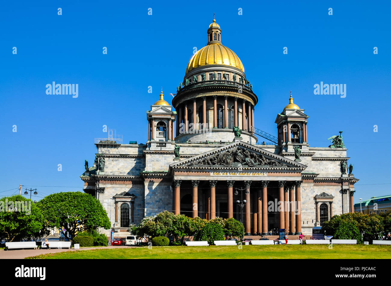St. Isaac Cathedral - St. Petersburg, Russia - Stock Image