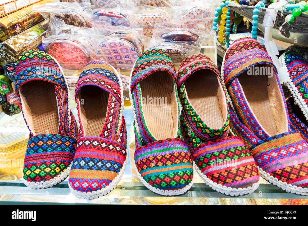 Islamic Republic of Iran. Shiraz. Slippers. Stock Photo