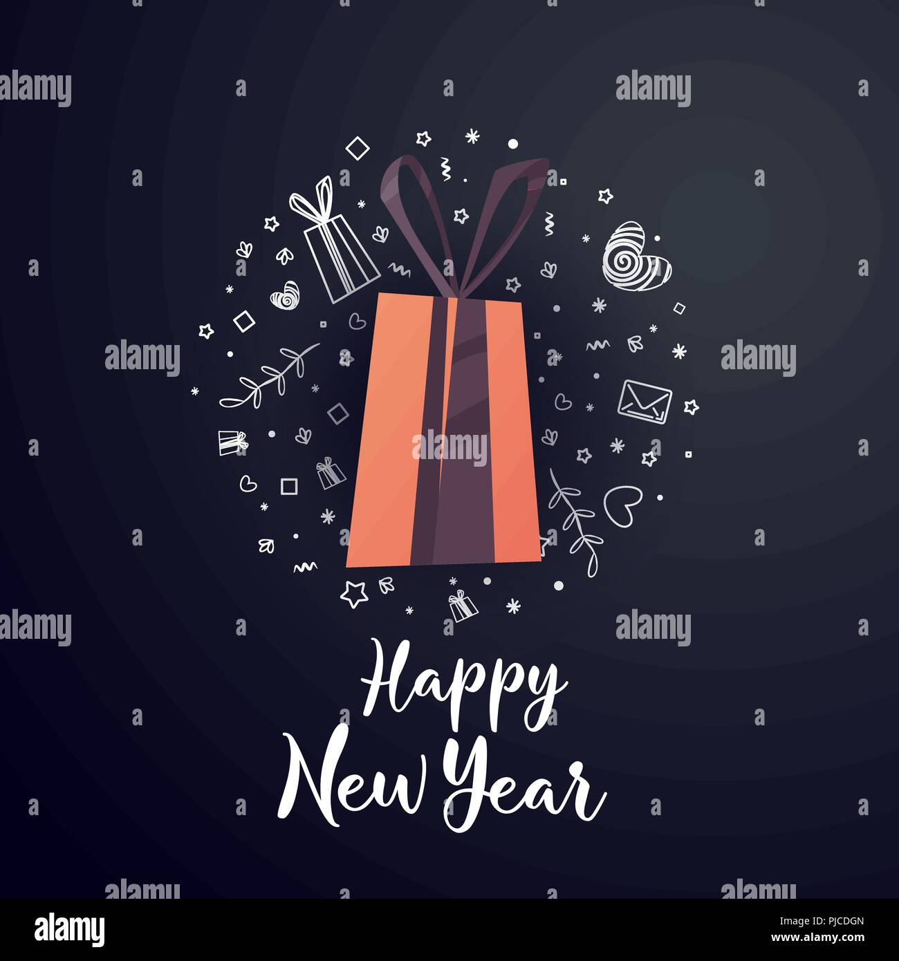 happy new year sale banner big winter sale offer shop market poster design vector illustration eps 10