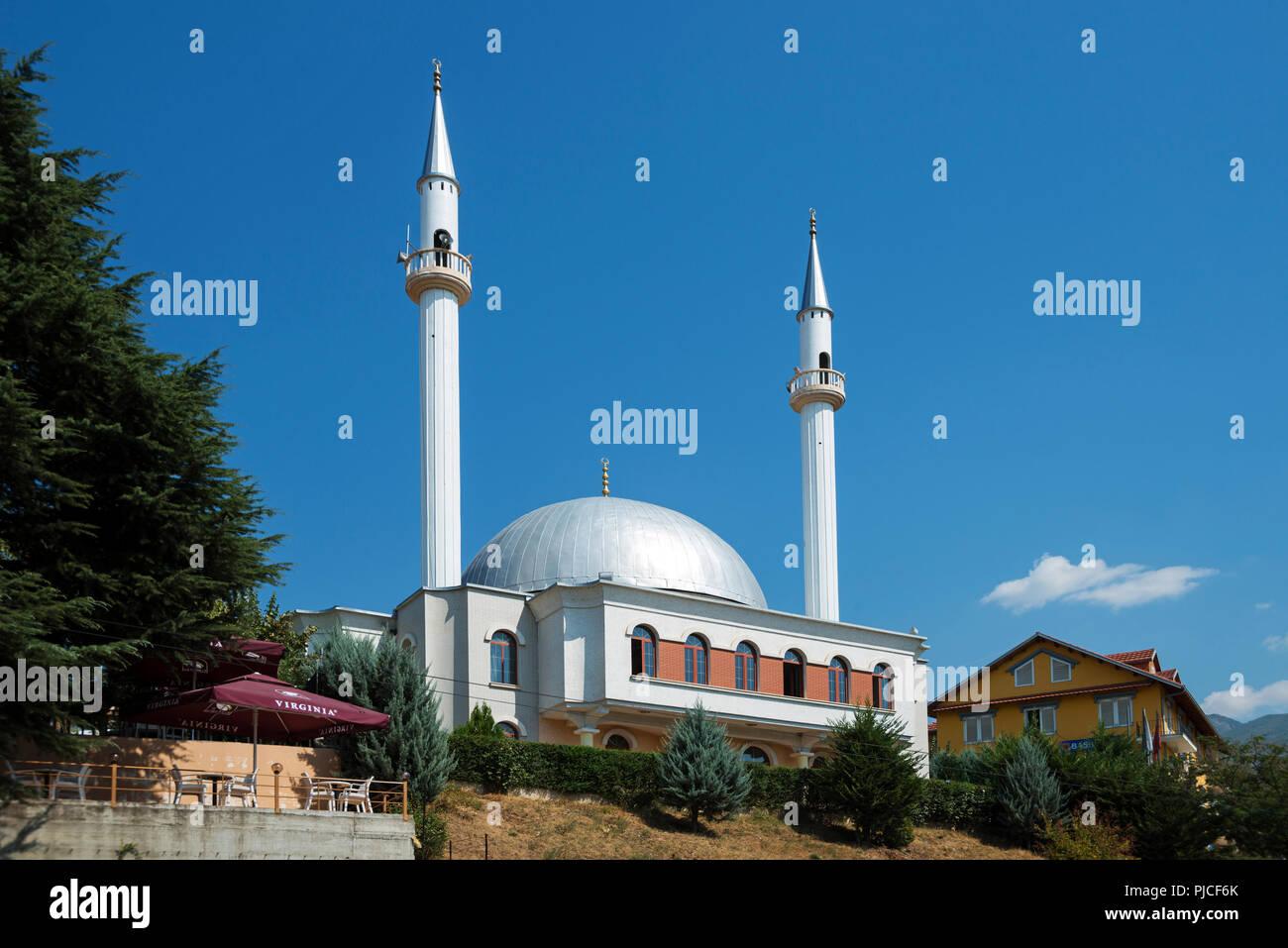 Mosque, Peshkopi, Albania , Moschee, Albanien - Stock Image