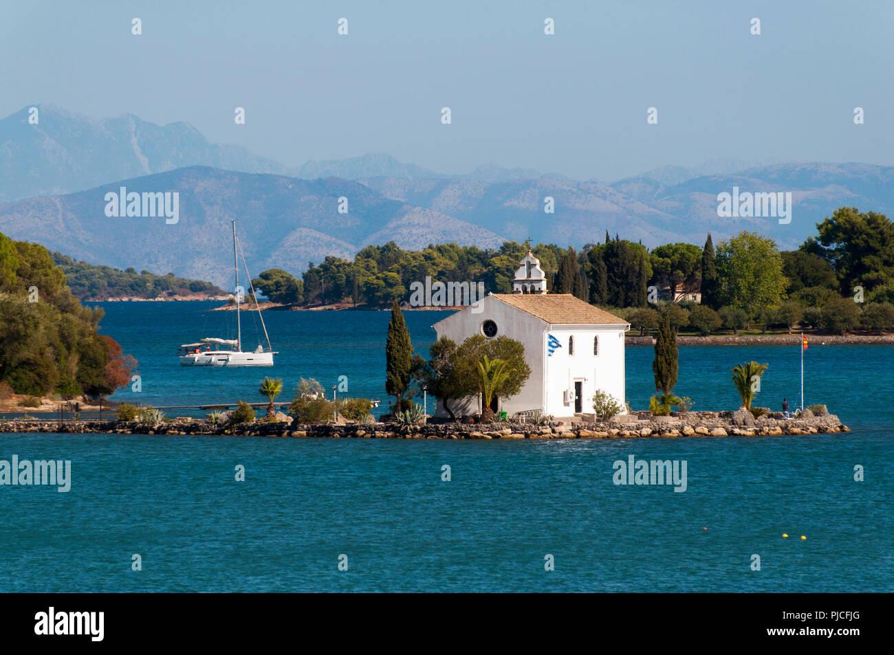 Chapel Ipapantis, Gouvia, Corfu, Greece , Kapelle Ipapantis, Korfu, Griechenland - Stock Image