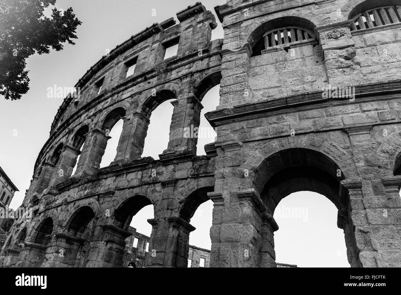 Roman arenas in the World, ancient monument - Stock Image