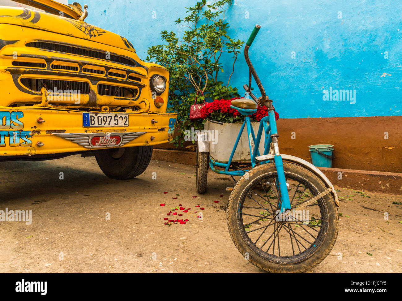 A typical view in Trinidad in Cuba - Stock Image