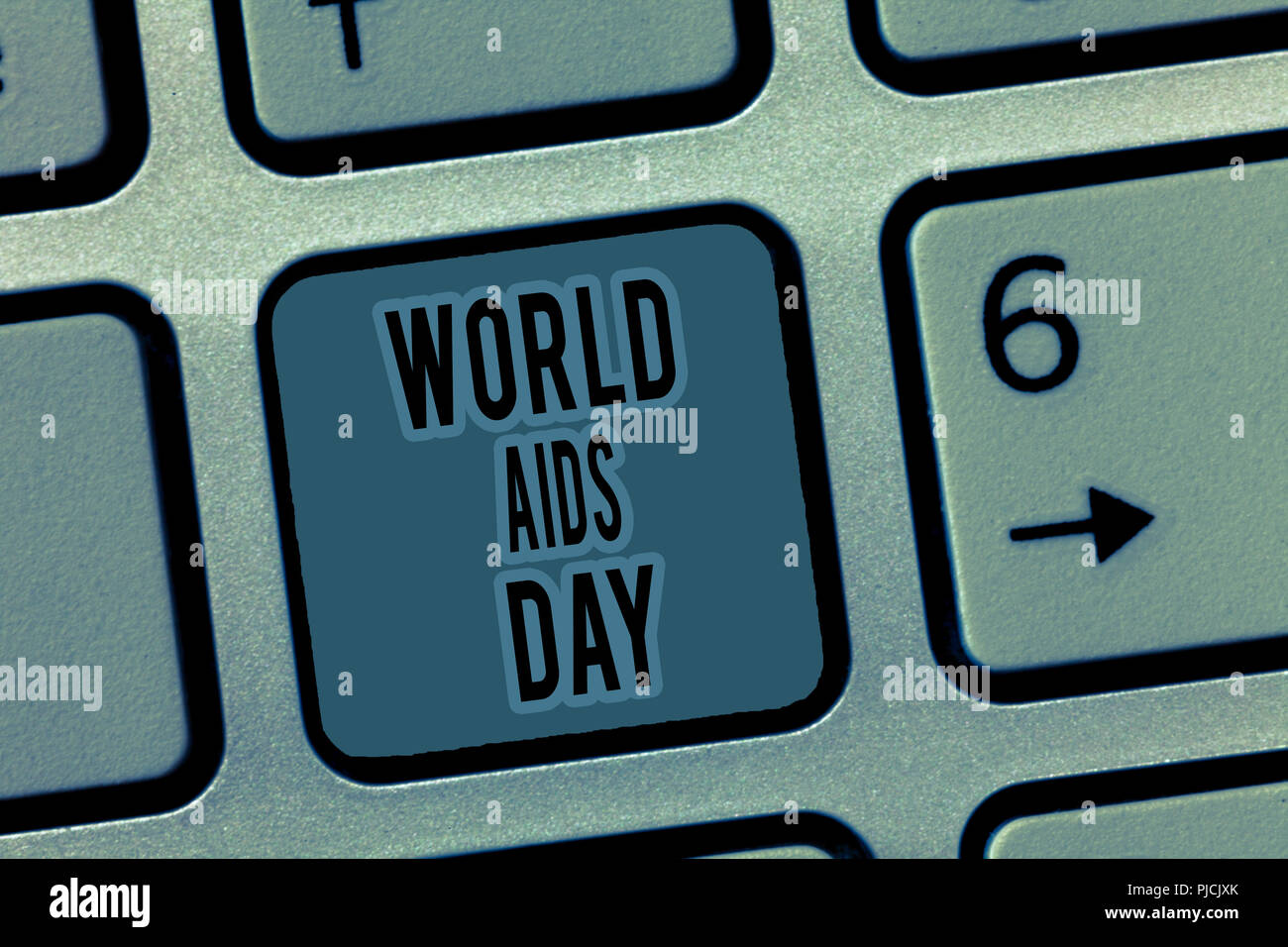 Handwriting text World Aids Day. Concept meaning 1st December dedicated to raising awareness of the AIDS. - Stock Image