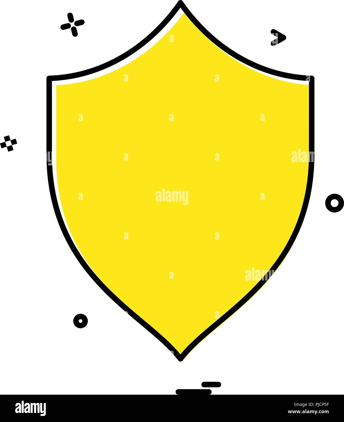 security badge saftey protect icon stock vector art illustration