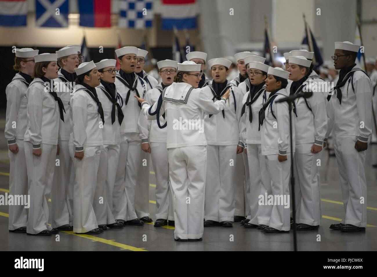 GREAT LAKES, Ill  (Aug  17, 2018) U S  Navy Sailors graduate