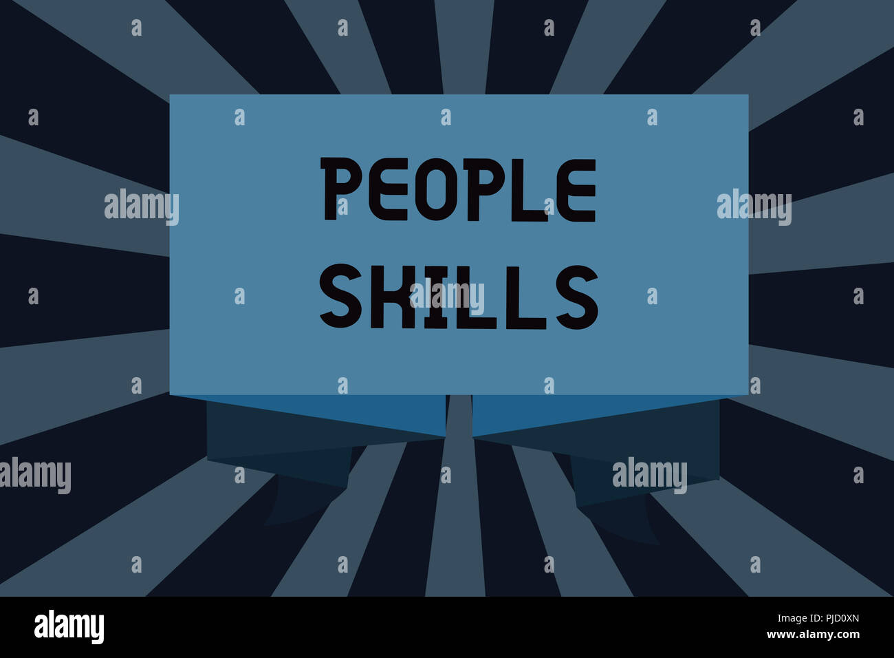 Text sign showing People Skills. Conceptual photo Get Along well Effective Communication Rapport Approachable. - Stock Image