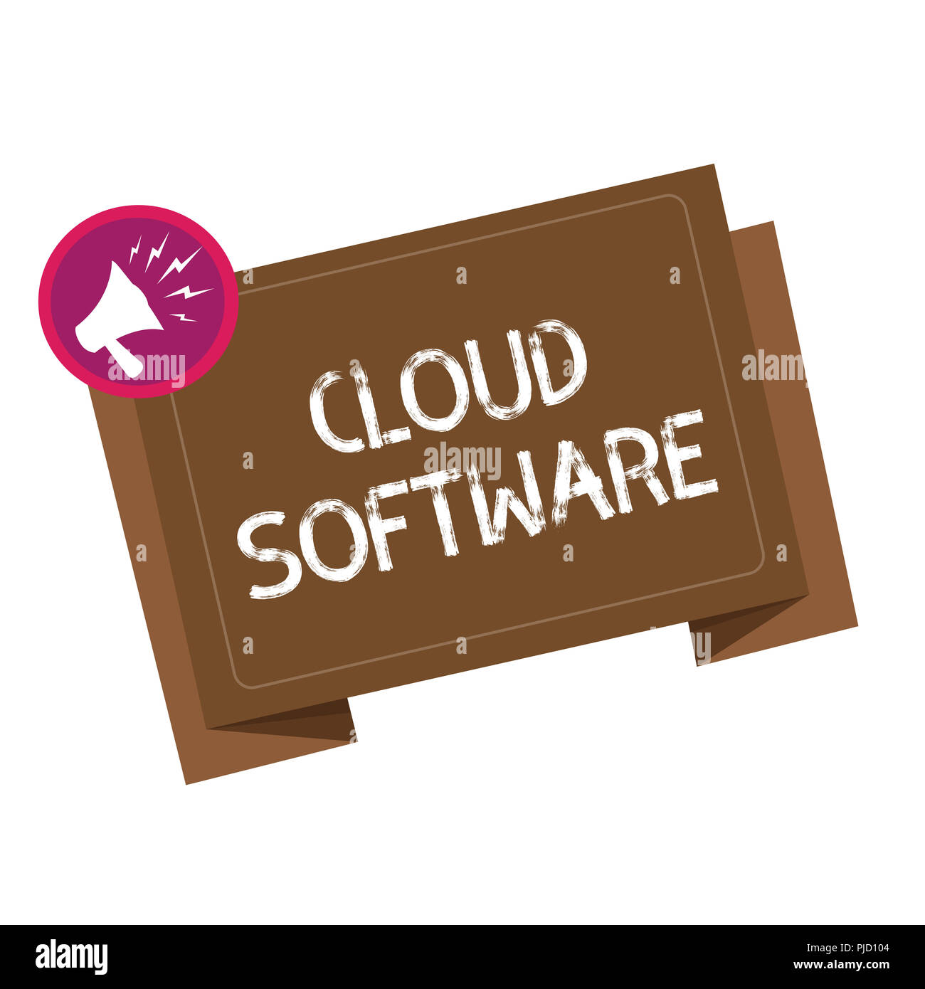 Conceptual hand writing showing Cloud Software. Business photo showcasing Programs used in Storing Accessing data over the internet. - Stock Image