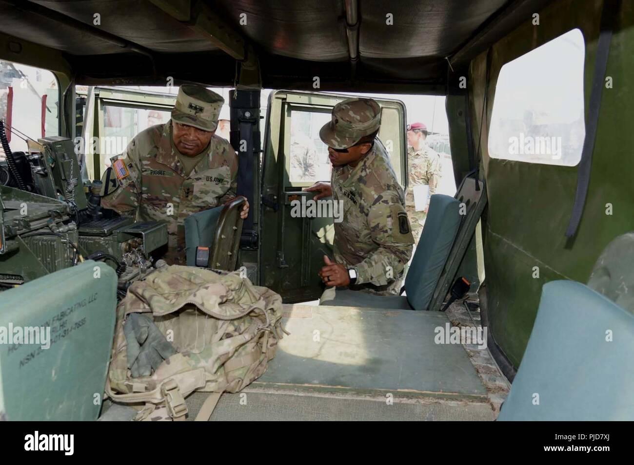 A 173rd Infantry Brigade Combat Team Abn Soldier Briefs Lt Gen
