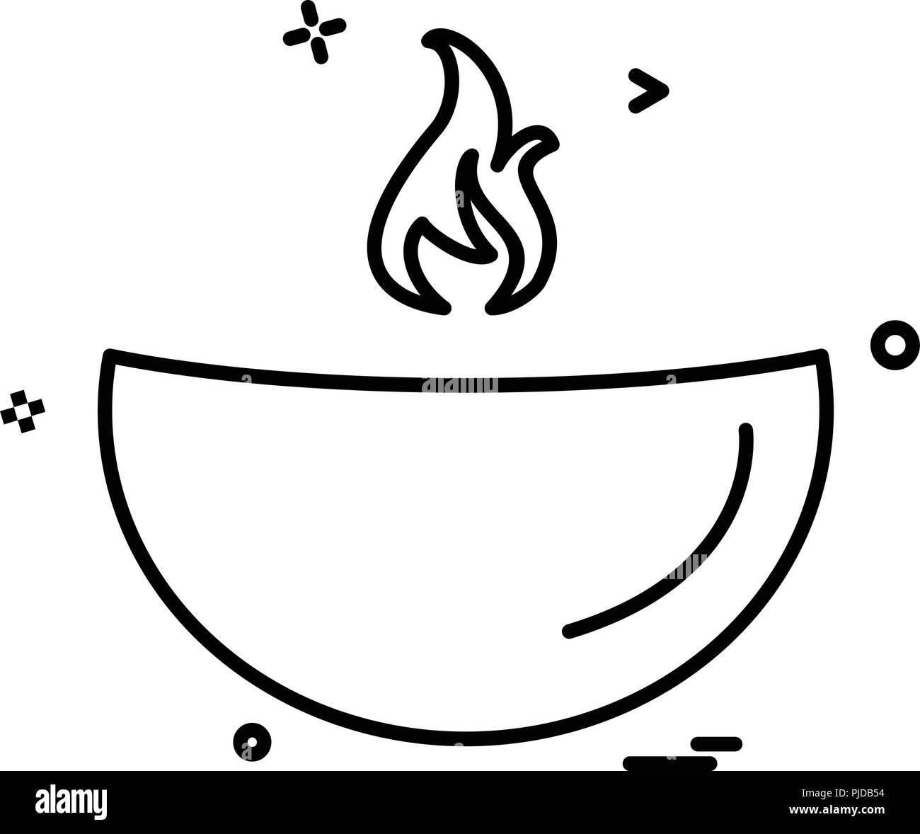 Oil lamp icon design vector stock image
