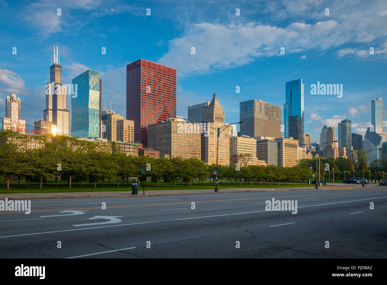 Chicago, a city in the U.S. state of Illinois, is the third most populous city in the United States. - Stock Image