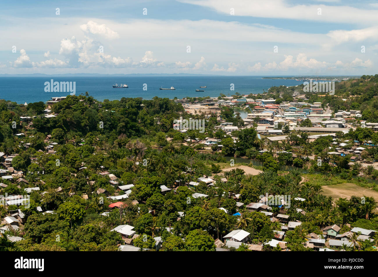 View over Honiara and Iron Bottom Sound, Guadalcanal, Solomon Islands - Stock Image
