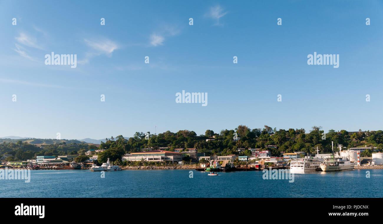 Waterfront, Honiara, Guadalcanal, Solomon Islands - Stock Image