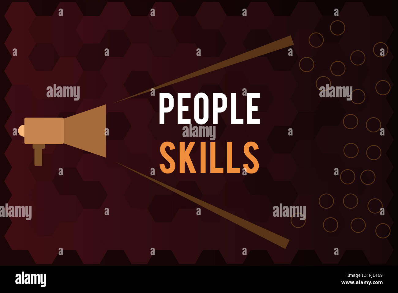 Handwriting text People Skills. Concept meaning Get Along well Effective Communication Rapport Approachable. - Stock Image