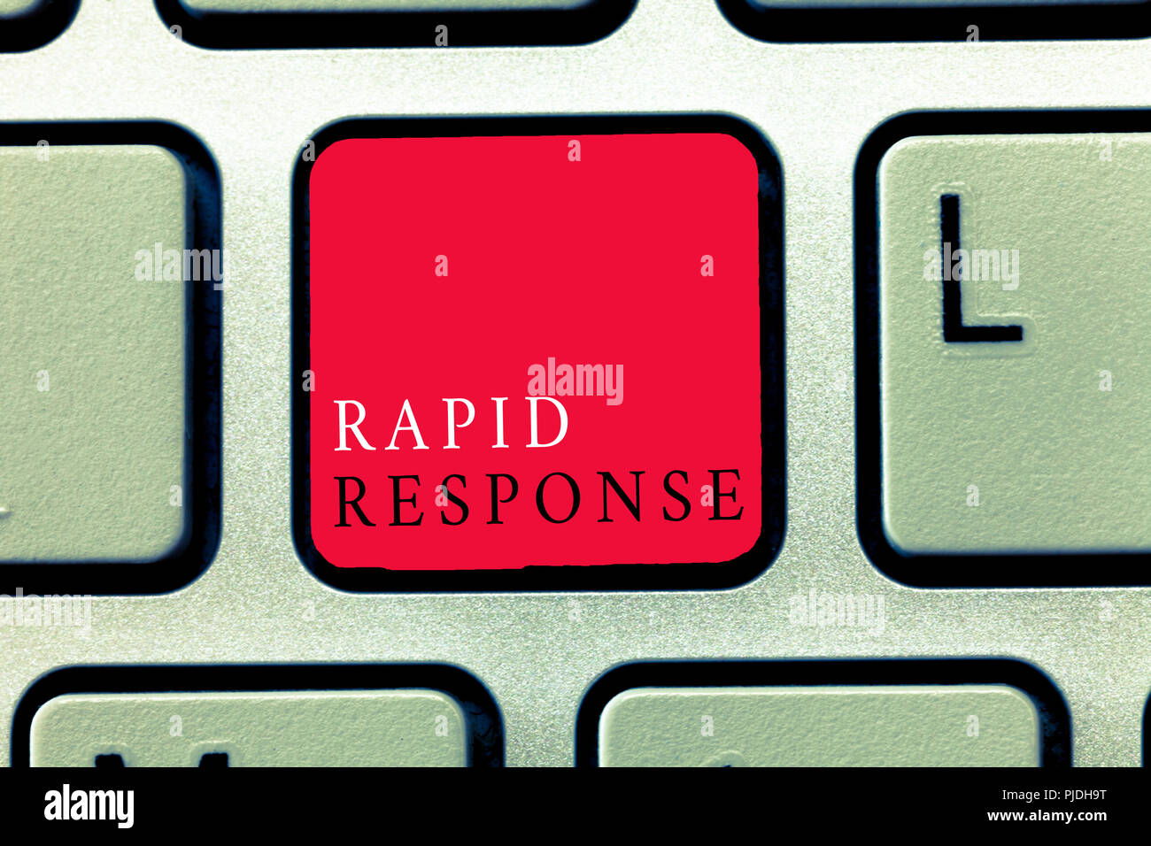 Word writing text Rapid Response. Business concept for Medical emergency team Quick assistance during disaster. - Stock Image