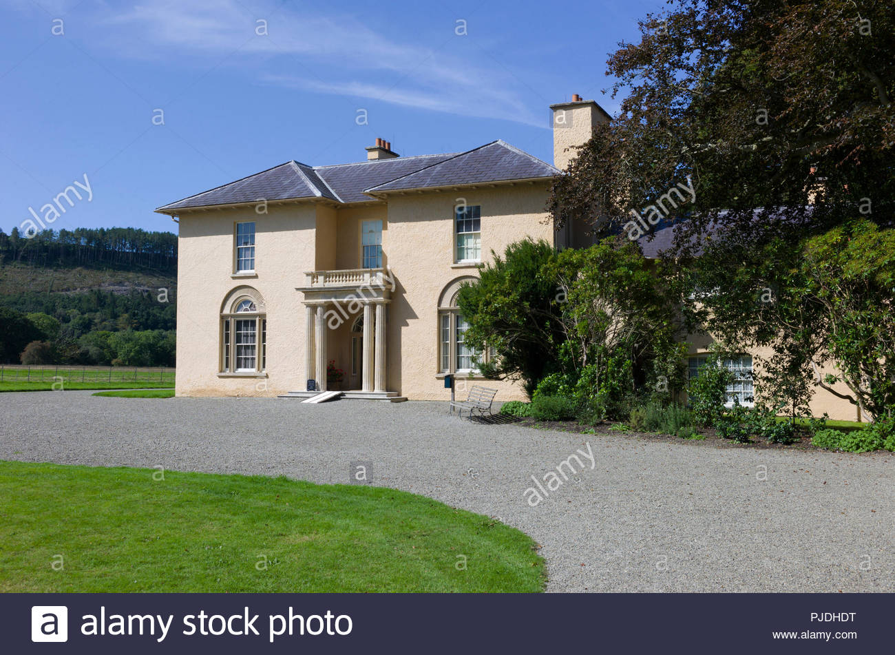 Llanerchaeron, Ceredigion, Wales, UK. The Georgian villa is a complete early example of the work of noted architect John Nash, designed in the 1790's. Stock Photo
