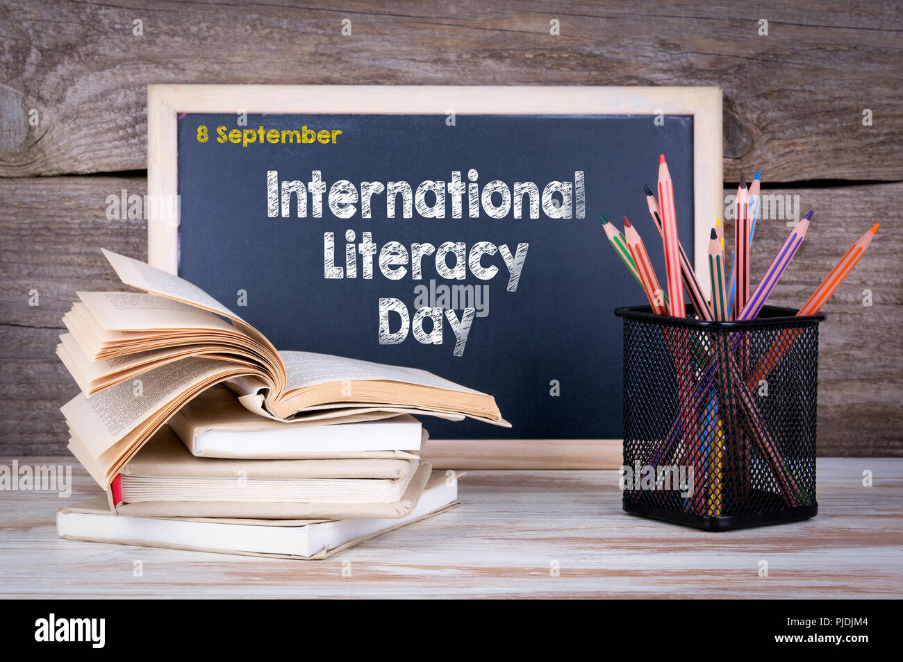 International Literacy Day 8 September - Stock Image