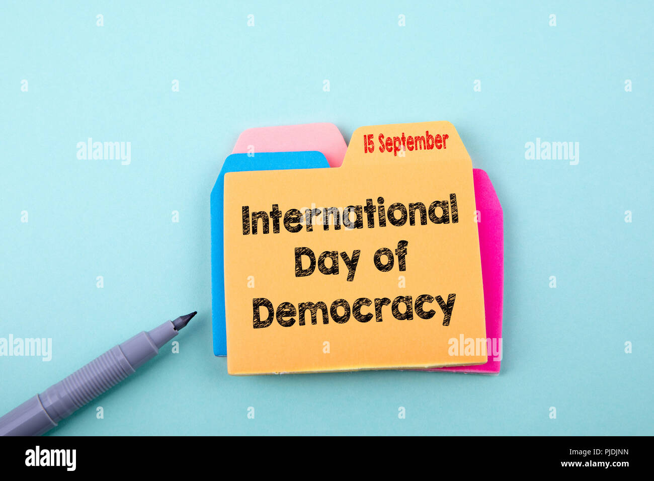 International Day of Democracy 15 September - Stock Image