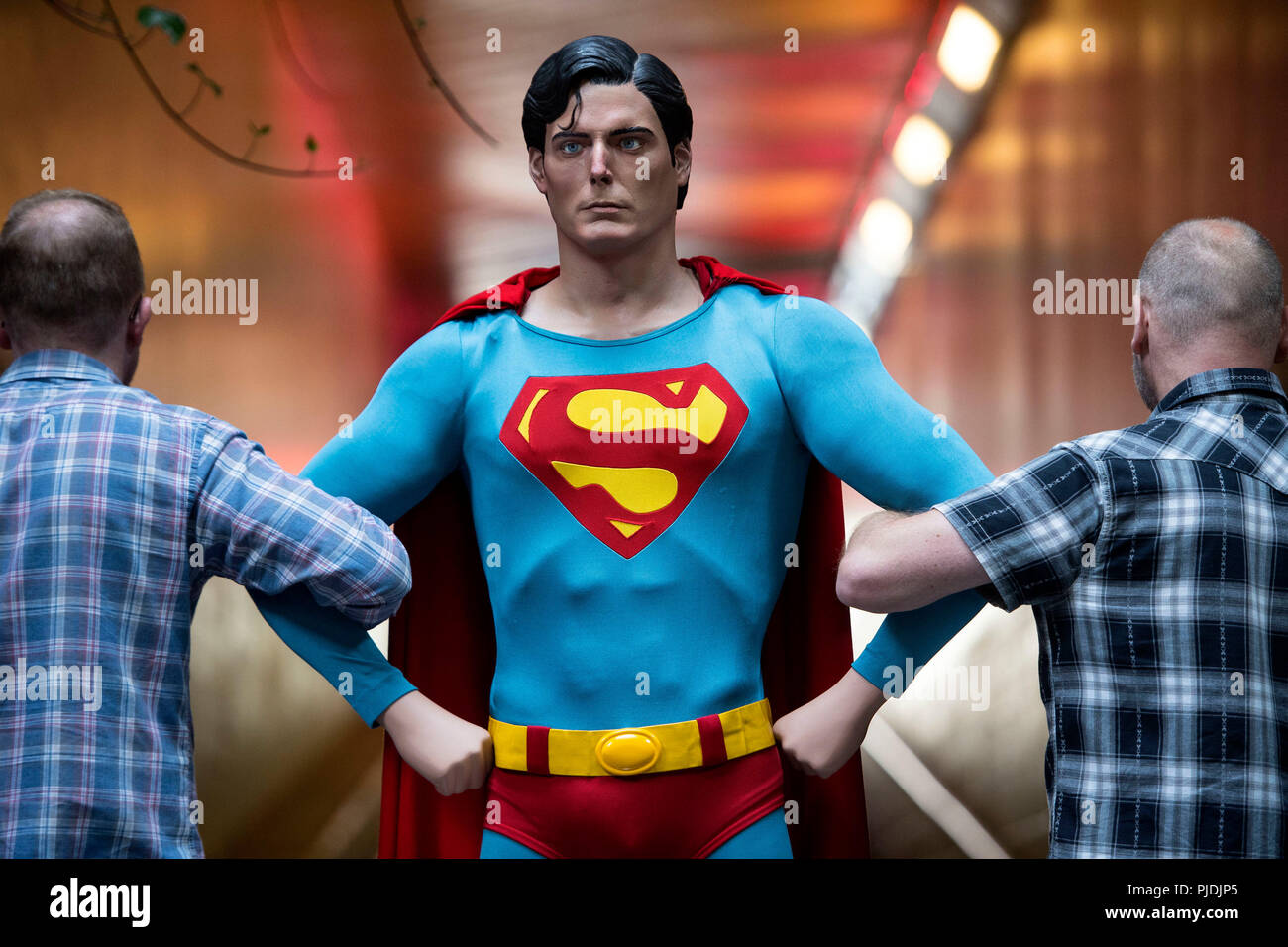 Staff Prepare A Superman Costume Used By Christopher Reeve In Superman 1978 And Superman Ii 1980