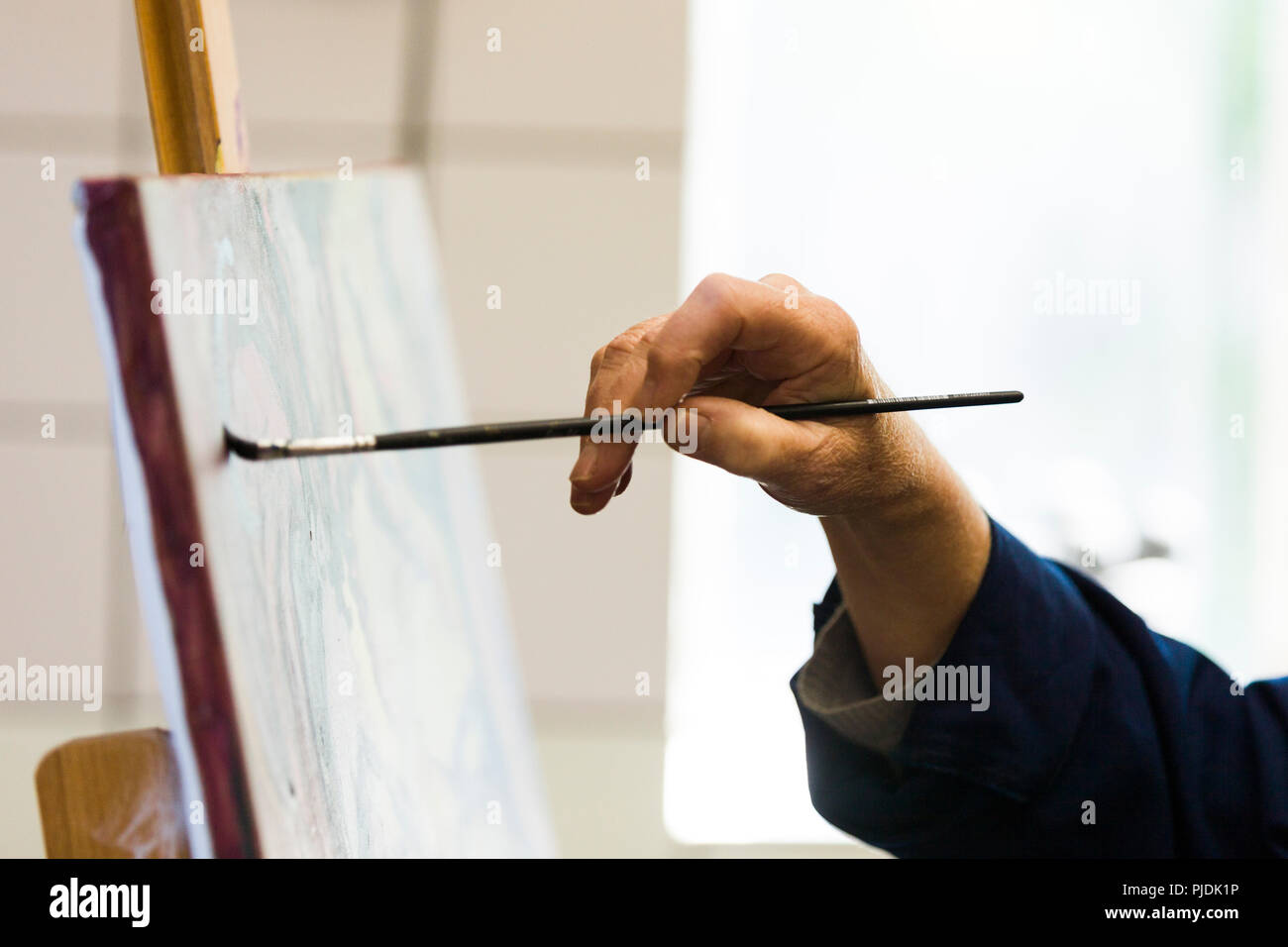 An artist technique as a demonstration for highly skilled workflow. Stock Photo