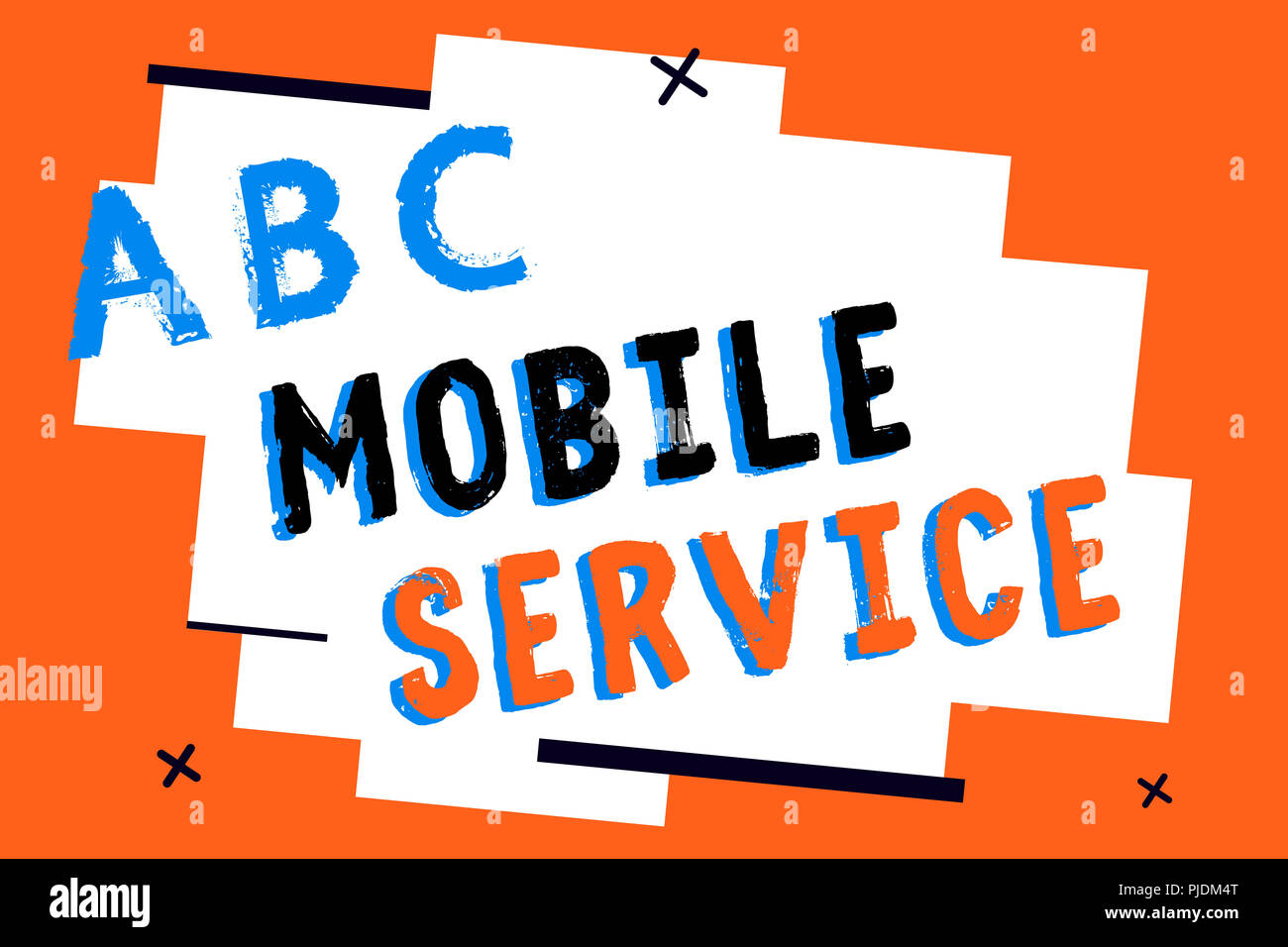 Text sign showing Mobile Service. Conceptual photo Radio communication utility between mobile and land stations. Stock Photo