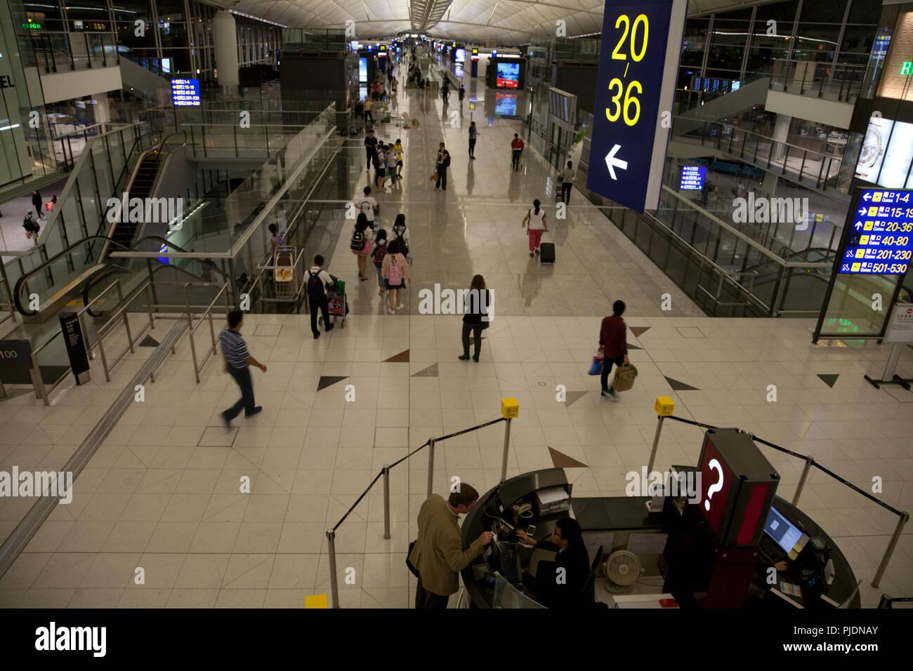 terminal 1 hong kong international airport chek lap kok hong kong china Stock Photo