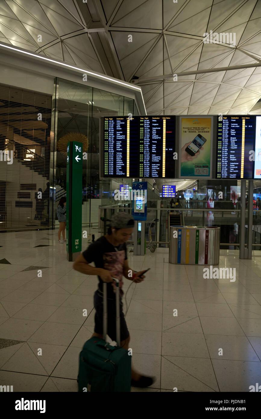 terminal 1 hong kong international airport chek lap kok hong kong china - Stock Image