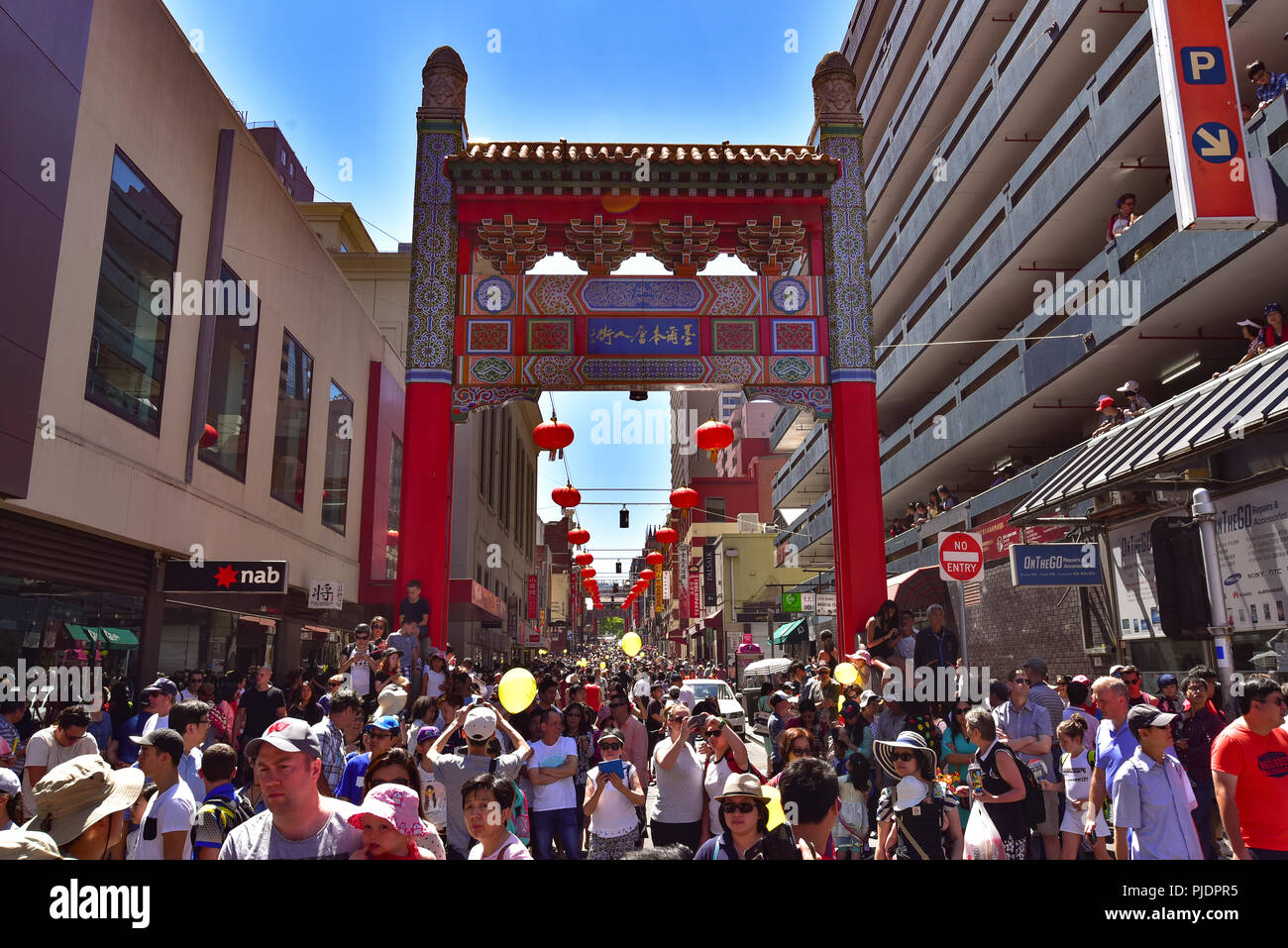 People celebrating Chinese New Year at Chinatown in