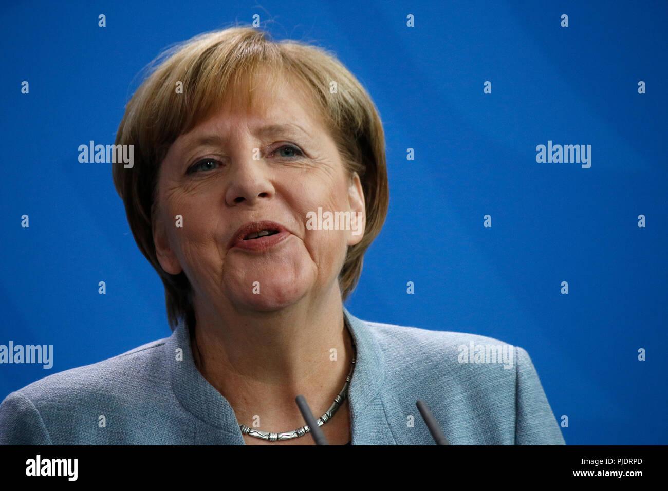 BKin Angela Merkel - Treffen der dt. Bundeskanzlerin mit dem franzoesischen Premierminister, Bundeskanzleramt, 15. September 2017, Berlin. - Stock Image