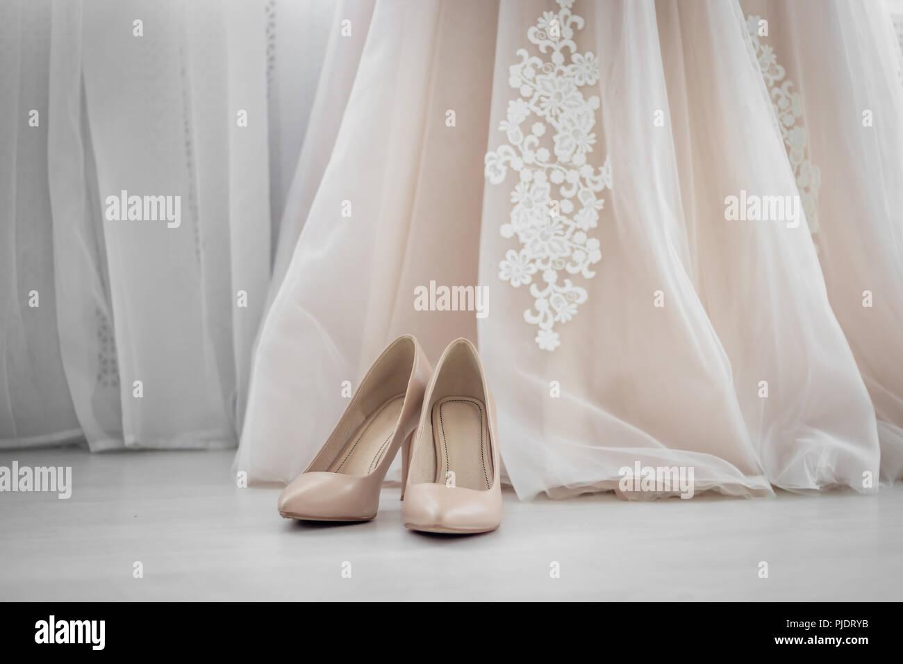 Beige shoes. Wedding Shoes. Bride shoes