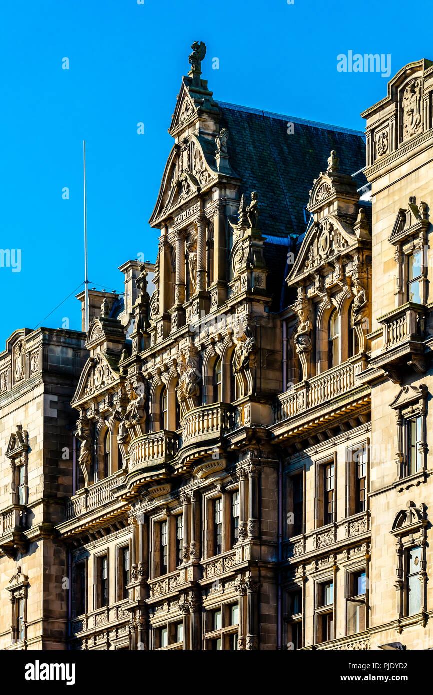 Building exterior of Jenners department store in Princes Street, Edinburgh, Scotland - Stock Image