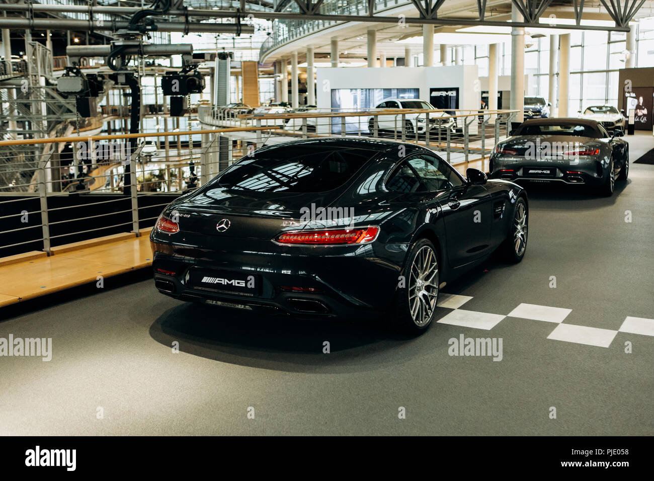 Berlin August 29 2018 Exhibition And Sale Of New Cars In The