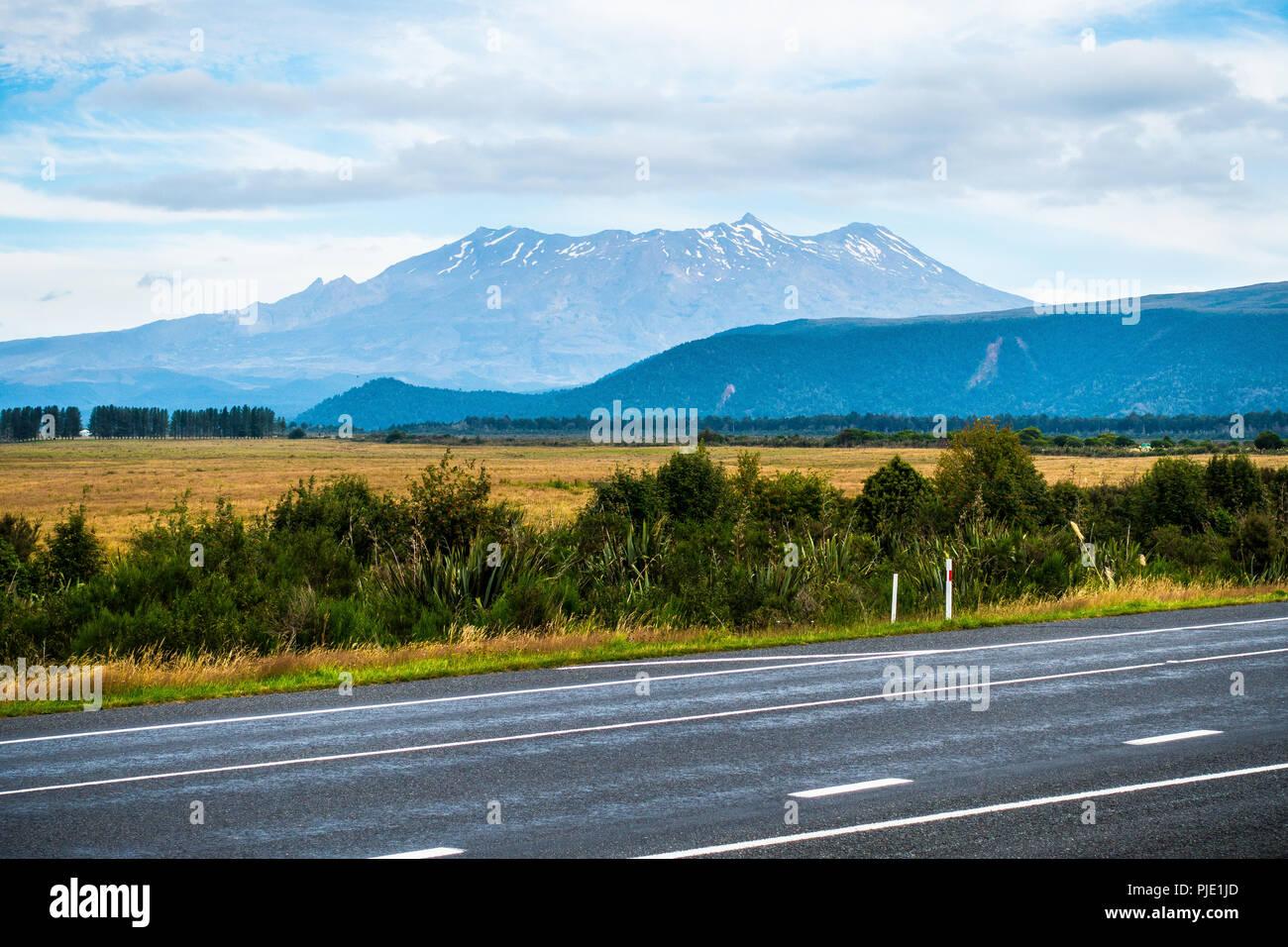 Mount Ruapehu - Tongariro National Park - Stock Image